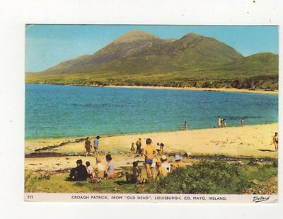 Croagh Patrick From Old Head Louisburgh Mayo Ireland Postcard 911a