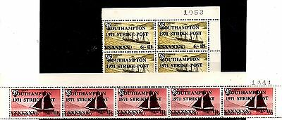 2 Lots Of Stamps From Great Britain,postal Strike  1971..