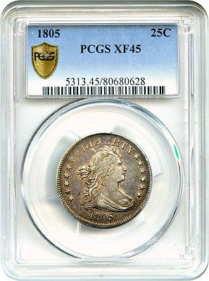 1805 25c PCGS XF45 - Bust Quarter - Early Bust Quarter