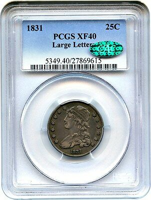 1831 25c PCGS/CAC XF40 (Large Letters) Type Coin - Bust Quarter - Type Coin