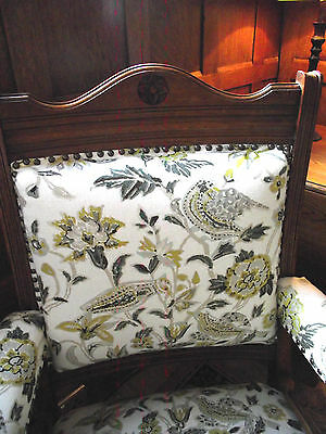 Antique Armchair - Arts and Crafts Armchair - Carved Oak Armchair - Chair