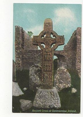 Ancient Cross At Clonmacroise Ireland Vintage Postcard 0893