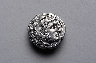 Ancient Greek Silver Drachm Coin of Alexander the Great - 323 BC