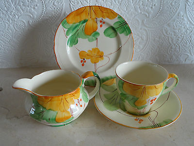 4 pieces of Art deco Alfred Meakin cup saucer plate and cream jug