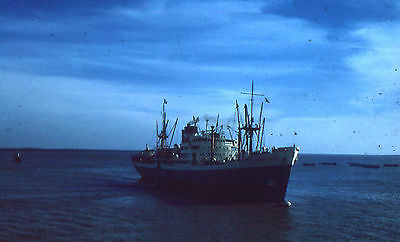 35mm SLIDE :  MARITIME :  UNKNOWN LARGE SHIP IN CLOSE-UP 1950's
