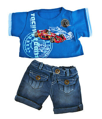 "Cool Racecar Outfit / Teddy Clothes to fit 15"" bear build a plush teddy"