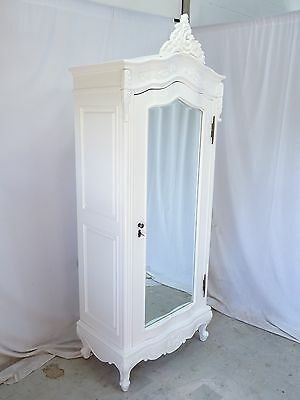 White french style Armoire, EX DISPLAY, french style wardrobe