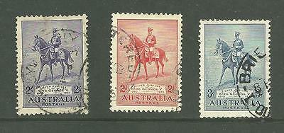 Australia 1935 Royal Silver Jubilee set of 3. Fine used condition