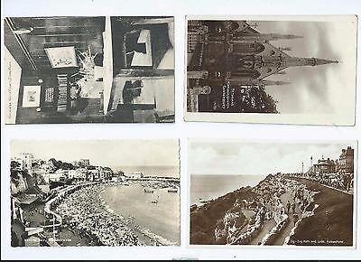 Postcard Collection Folkestone Rochester & Broadstairs
