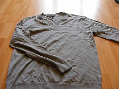 Mens NEXT grey v-neck jumper size XL *immaculate condition*
