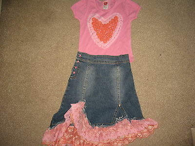 Lipstik Girls 2 Pc Set/outfit Incl.skirt & Top,age 6-7,worn Once,exc.c