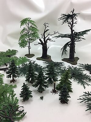 Collection plastic tree 00 railway scenery scatter static grass bundle