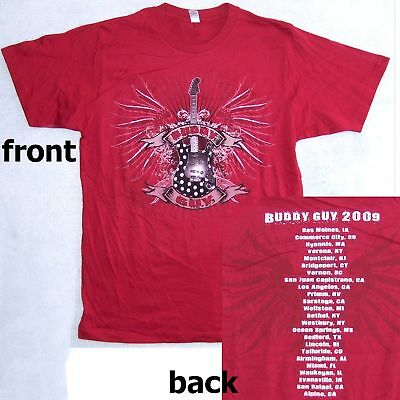 Buddy Guy! Guitar Images 2009 Tour Red T-Shirt S New