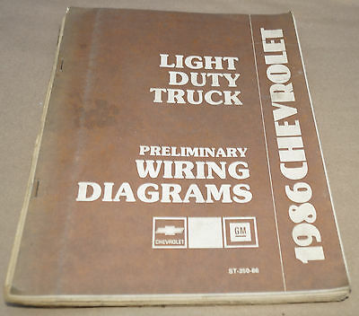1986 Chevy GMC Light Duty Truck Preliminary Wiring Manual