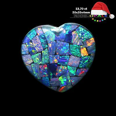 Weihnachtsaktion - COOBER PEDY KRISTALL OPAL TRIPLETTE - 13,70ct - MIT VIDEOLINK