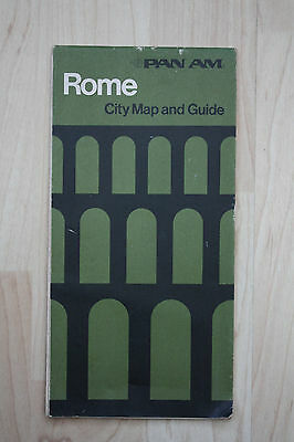 Vintage PAN AM Map of Rome