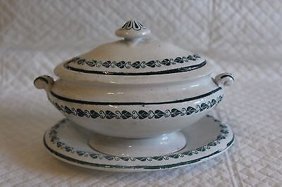 c1860 Victorian Copeland Childs Miniature Dinner Service Soup Tureen with Stand