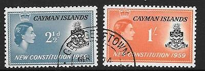 Cayman Islands Sg163/4 1959 New Constitution Fine Used