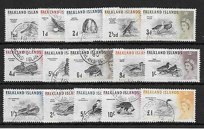 Falkland Islands Sg193/207 1960 Birds Fine Used