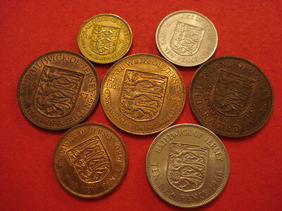 7 Jersey Coins in UNC Lustre
