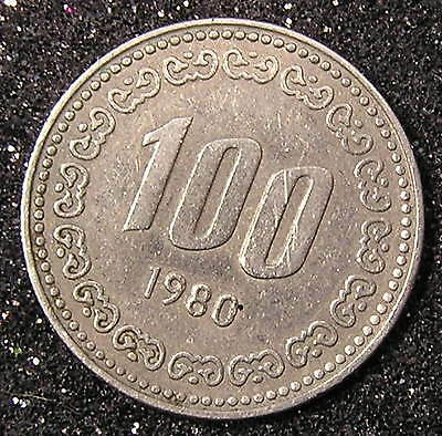 1-Coin from South Korea.  100-Won.  1980.