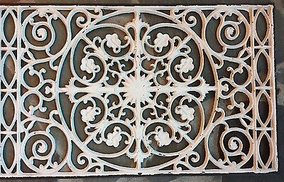 Cast Iron Window Grate Antique Style Architecture Garden Basement Floor Heat