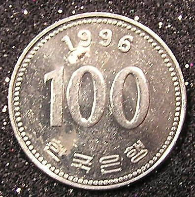 1-Coin from South Korea.  100-Won.  1996.
