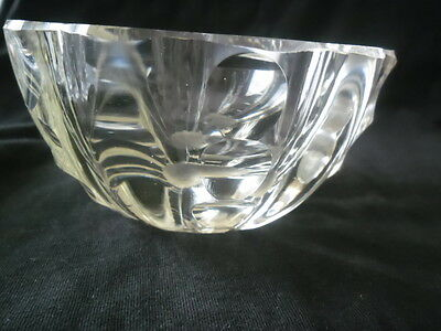 BEAUTIFUL VINTAGE CRYSTAL BOWL very heavy for size