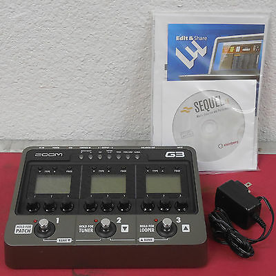 Zoom G3 Guitar Effects and Amp Simulator G-3 3-in-1 Stomp Box Guitar FX Pedal