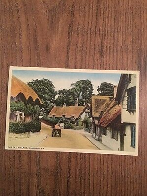 Antique postcard Of  The Old Village Shanklin Hampshire 1941