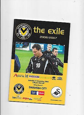 Newport County v Swansea FA Cup 1st Round 11/11/2006