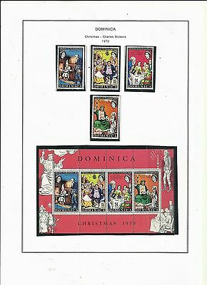 Dominica .  1970 Christmas/Charles Dickens. Mint on album pages.