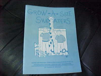Grow A Size Sweaters For Standard & Bulky Machines