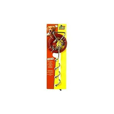 Riga piquet d'attache + cable de 4,50 m chiens