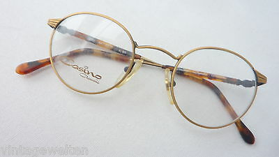 CASINO Herren Brille Panto NEU Pantoform mattiert messing klassisch Metall Gr.S