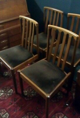 Set of Mid Century Teak Meredew Dining Chairs G Plan Style