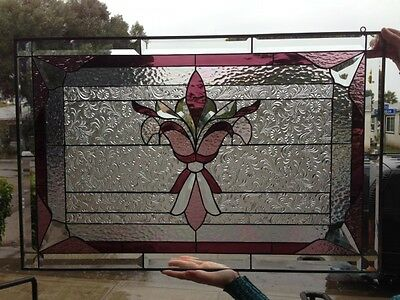 """The """"Westchester"""" Victorian Stained Glass Window Panel (We do custom work!)"""