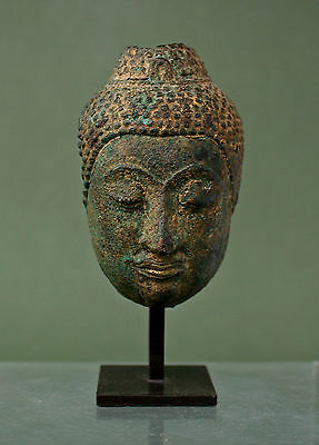 Antique Bronze Thai Buddha C15Th - Private Collection South Of France