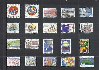 x9943 Iceland / A Small Collection Early & Modern Used