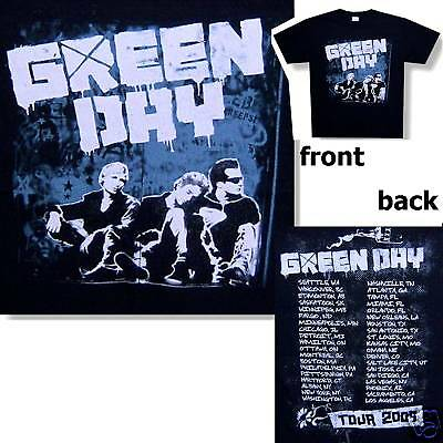 "Green Day Band ""grey Wall"" Pic Image Tour 2009 Black T-Shirt Xl New Official"