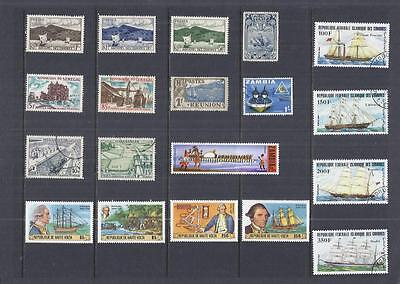 x9951 Thematics / Boats/ A Small Collection Early & Modern Lhm & Used