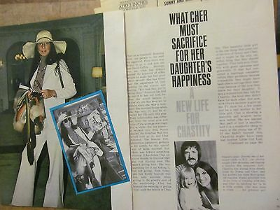Cher, Four Page Vintage Clipping, Chastity Bono