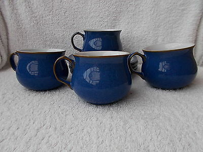 Denby Imperial Blue - 4 Cups & Saucers