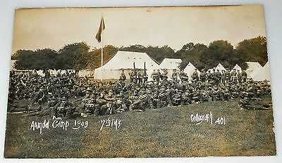 1909 RP Postcard ARUNDEL CAMP Sussex 7th MIDDLESEX REGIMENT Military