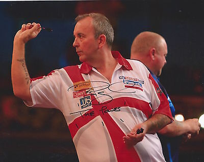 PHIL TAYLOR - Hand Signed 10x8 Photo w/COA - The Power World Champion - Darts
