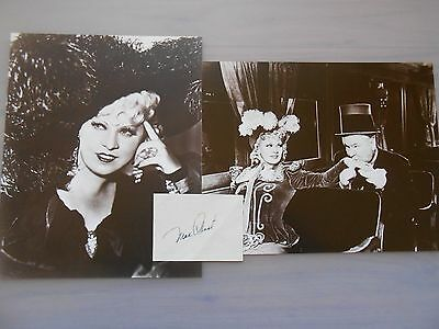 Mae West Hand Signed Page With Sepia Movie Still Photos & Coa
