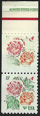Scott's #1737 Pair; Top Stamp Colors Lighter & Denomination Almost Missing