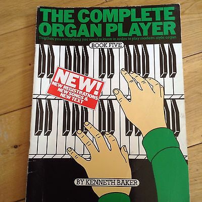 THE COMPLETE ORGAN PLAYER Book Five Kenneth Baker Softback Book *