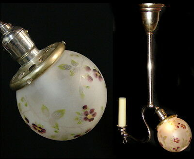 Antique Victorian Gas & Electric Edison Chandelier Ceiling Light Fixture Lamp