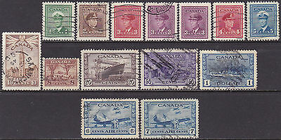 Canada KGVI 1942-48 War Effort MNG & Used 1c-$1 Stamps incl Air Mail